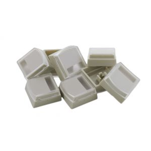 Beige Single Keycaps for X-keys Sticks (8 pack)