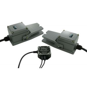 2 Industrial Foot Switches and USB 12 Switch Interface Bundle