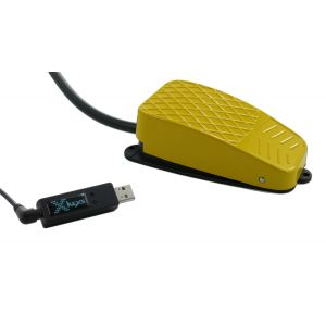 USB 3 Switch Interface with Yellow Commercial Foot Switch