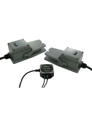 USB 12 Switch Interface bundled with two Industrial Foot Switches no guard