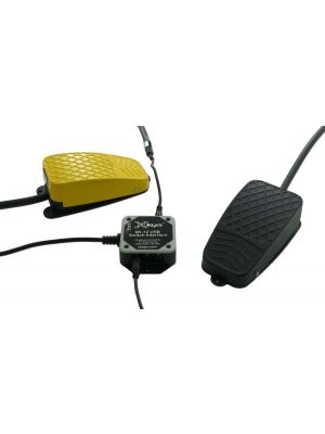 USB 12 Switch Interface bundled with the Black, and Yellow Commercial Foot Switches