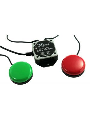 USB 12 Switch Interface bundled with the Red and Green Orby Switches