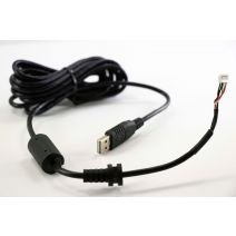 X-keys USB 10' Cord with Ferrite and Large Restraint