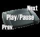 X-keys USB Media Player Foot Pedal