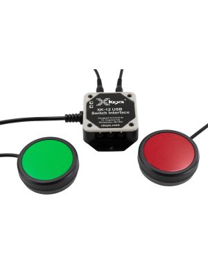 USB 12 Switch Interface with Red and Green One Button Bundle