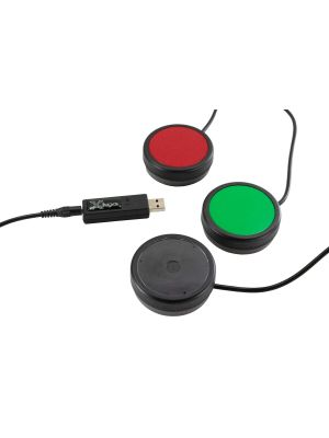 USB 3 Switch Interface with Red, Green & Transparent One Button Bundle