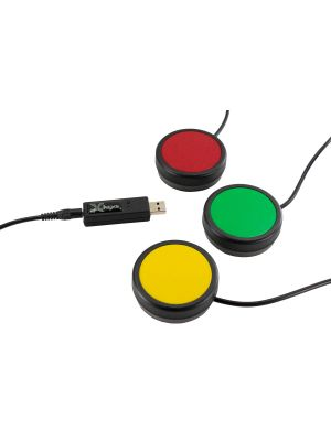 USB 3 Switch Interface with Red, Green & Yellow One Button Bundle