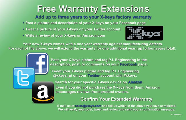 Warranty Extension Flier