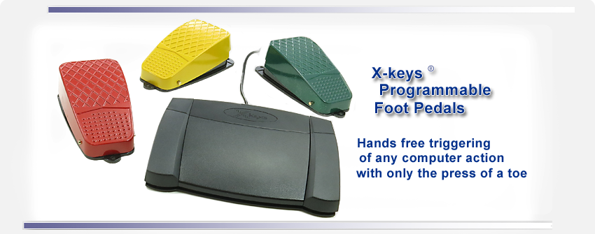X-keys Programmable Foot Pedals