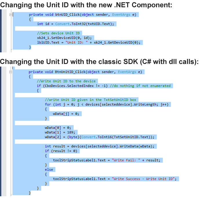 SDK Comparison