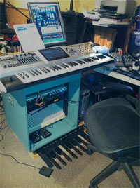 Tony Harvey's mixing station